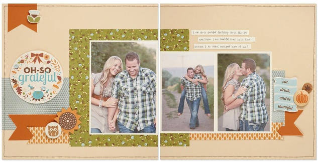 Pathfinding scrapbook layout