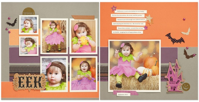 Scaredy Cat scrapbook layout