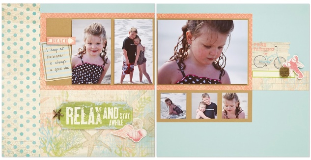 Seaside scrapbook layout