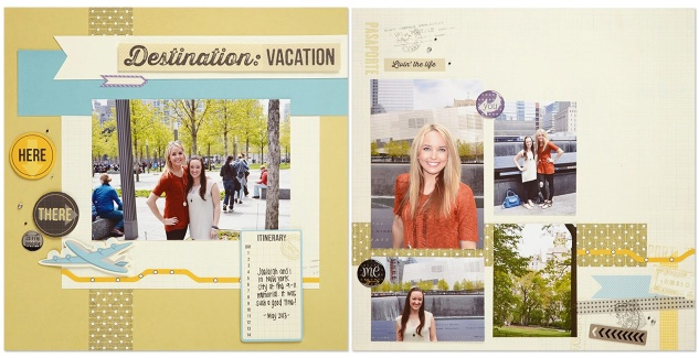 Wanderful scrapbook layout