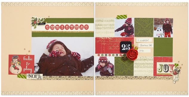Yuletide Carol scrapbook layout
