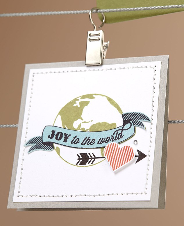 Joy to the World stamped piece