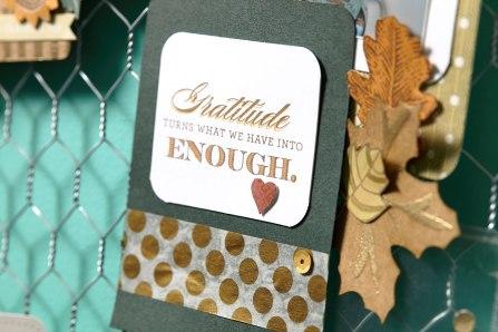 Gratitude Frame close-up