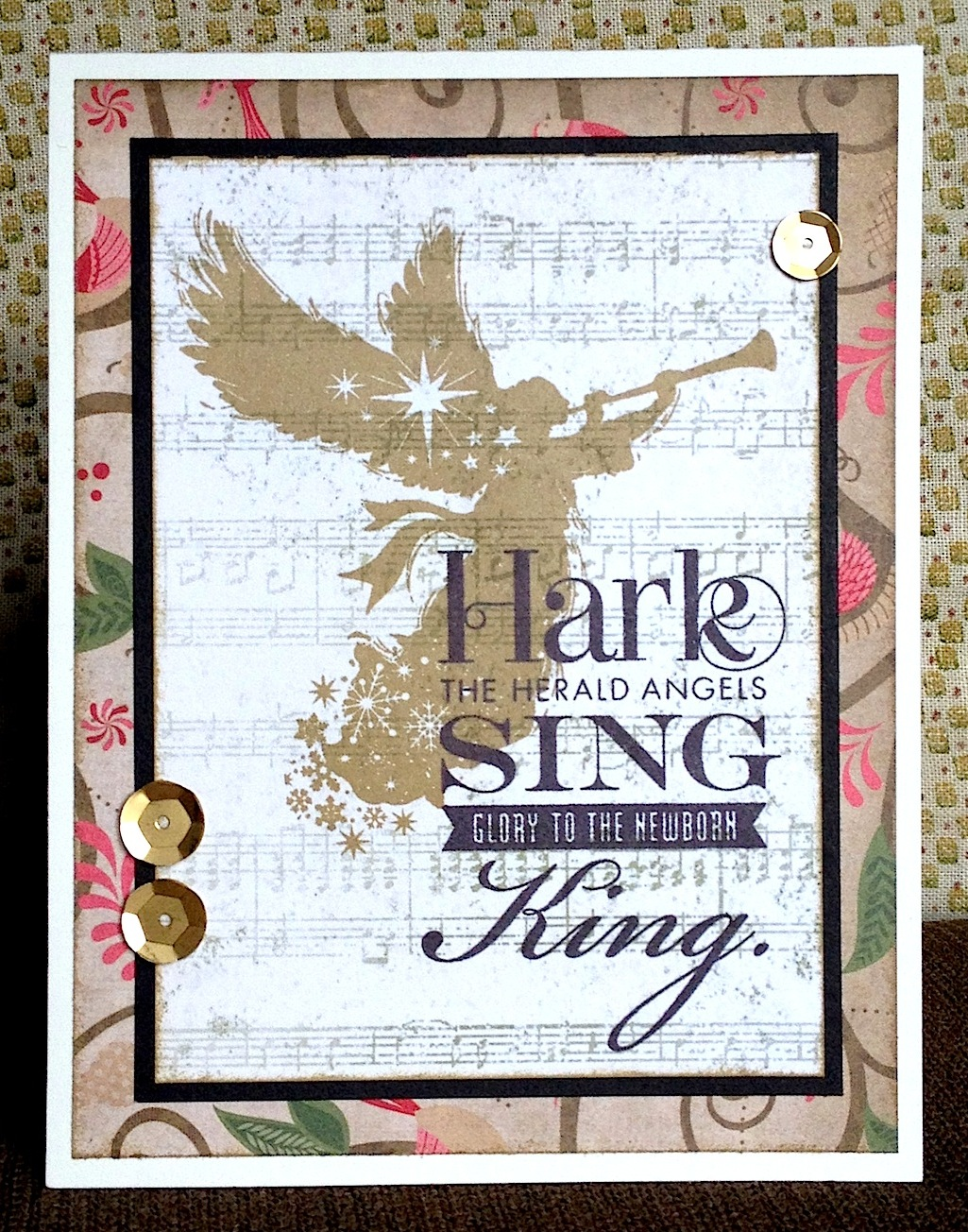 My Favorite Stamp Set Sing Glory Make It From Your Heart