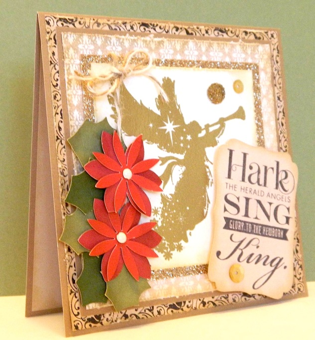 Card using Sing Glory stamp set