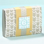 For a wintry washi look, use silver geometric washi tape to spruce up gifts.