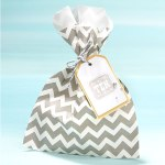 Slate paper bag, Slate ink, and Slate metallic baker's twine combined with sparkly accents is oh-so easy on the eyes.
