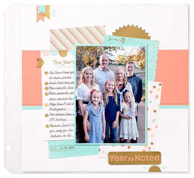 Year Noted scrapbook page