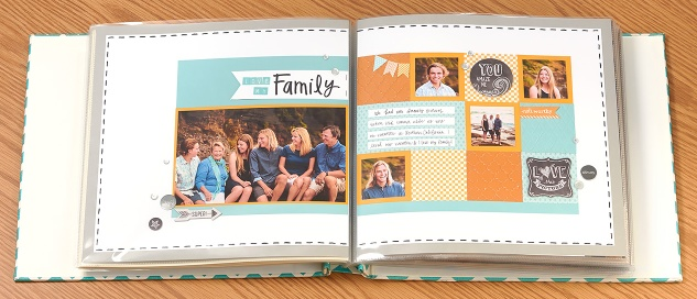Two-page layout in album