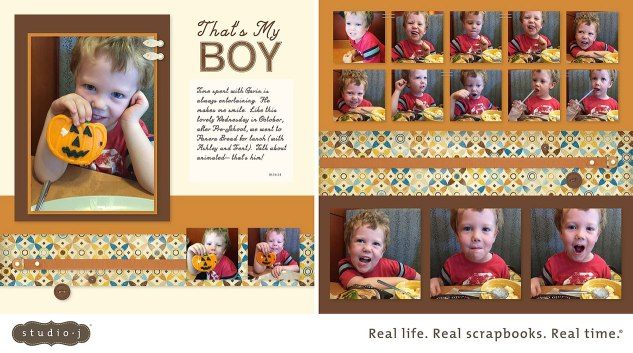 That's My Boy layout by Karen Morris