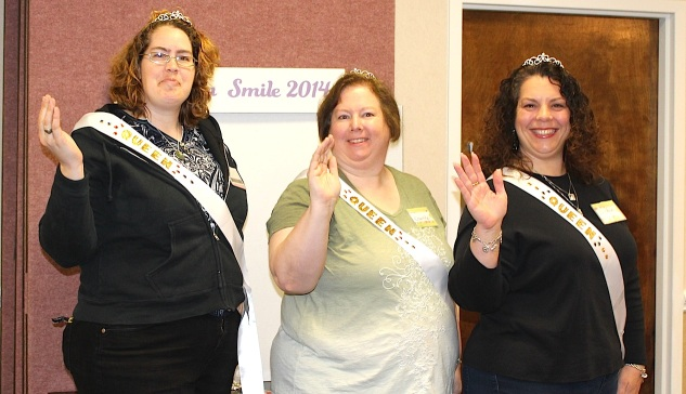 "MeriMajesties Team members are crowned ""queens"" when they bring eight or more participants to the crop. Those who organize a group of four are crowned ""princesses."""