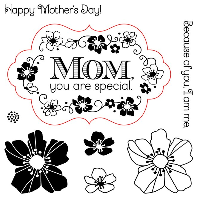My Acrylix® Flowers for Mom stamp set