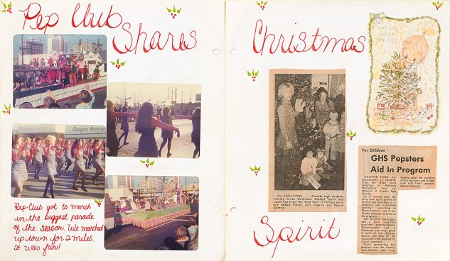 Artwork from Jeanette's first scrapbook
