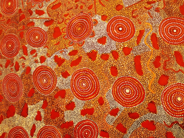 Aboriginal dot painting dreamstime