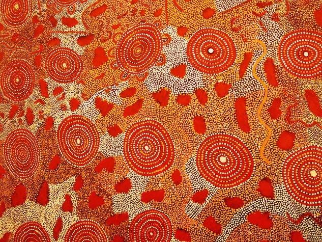 Aboriginal dot painting dreamstime