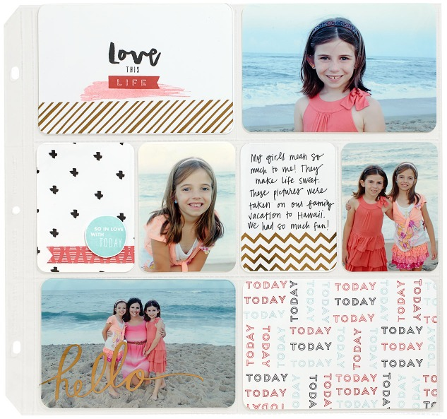 Hello, Life Pocket Scrapbooking Layout CTMH