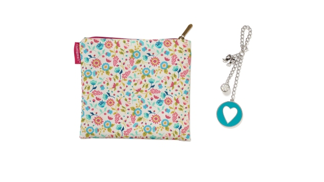 On The Go Bag and Heart Dangle