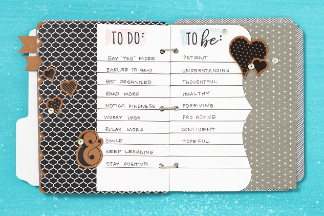 Create a beautiful book to keep track of your goals this new year! #closetomyheart #ctmh #newyears #goals