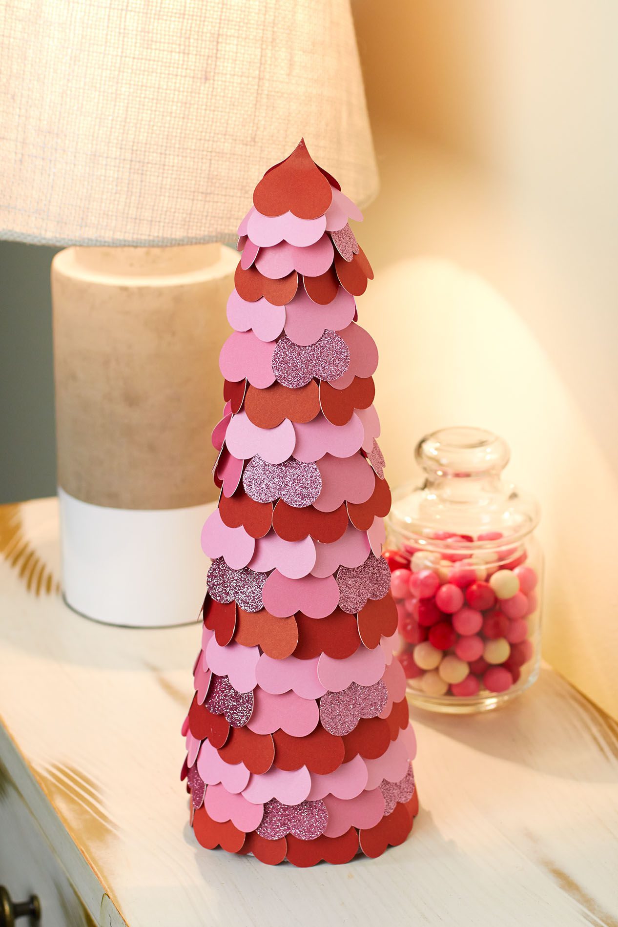 Learn how to make this adorable heart tree for Valentine's Day! #CloseToMyHeart #ctmh #Valentines #decor #hearts