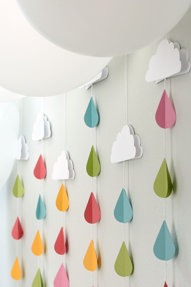 Throw a shower-themed baby shower! #ctmh #closetomyheart #babyshowerideas #showertheme #rain #clouds #springtime #babies #pregnancy