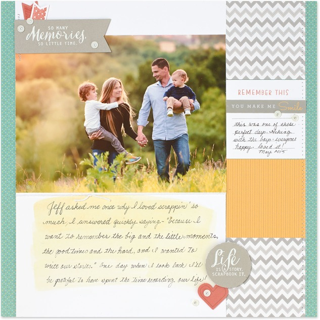 Create a scrapbook page that explains what scrapbooking means to you for a chance to win free products! #ctmh #closetomyheart #ctmhscraphappy #scrapbooking #memorykeepingmatters