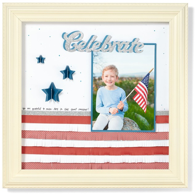 Celebrate the Fourth of July with these adorable scrapbook pages! #ctmh #closetomyheart #fourthofjuly #scrapbooking #diyfourthofjulydecor
