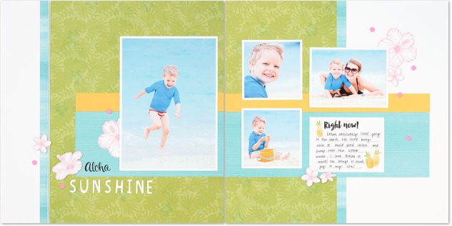Use the Calypso papers to capture your summer memories. #ctmh #closetomyheart #scrapbooking #crafting #summer