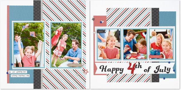 Celebrate the Fourth of July with these adorable scrapbook pages! #ctmh #closetomyheart #fourthofjuly #scrapbooking #diyfourthofjulydecor