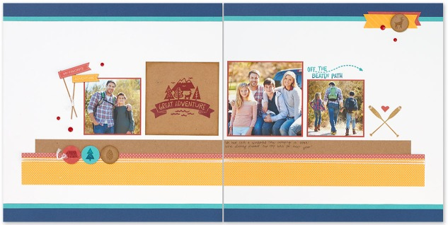 Use the triangle rule to make your scrapbook layouts balanced! #ctmh #closetomyheart #scrapbookingtips #scrapbookinghacks #scrapbooking