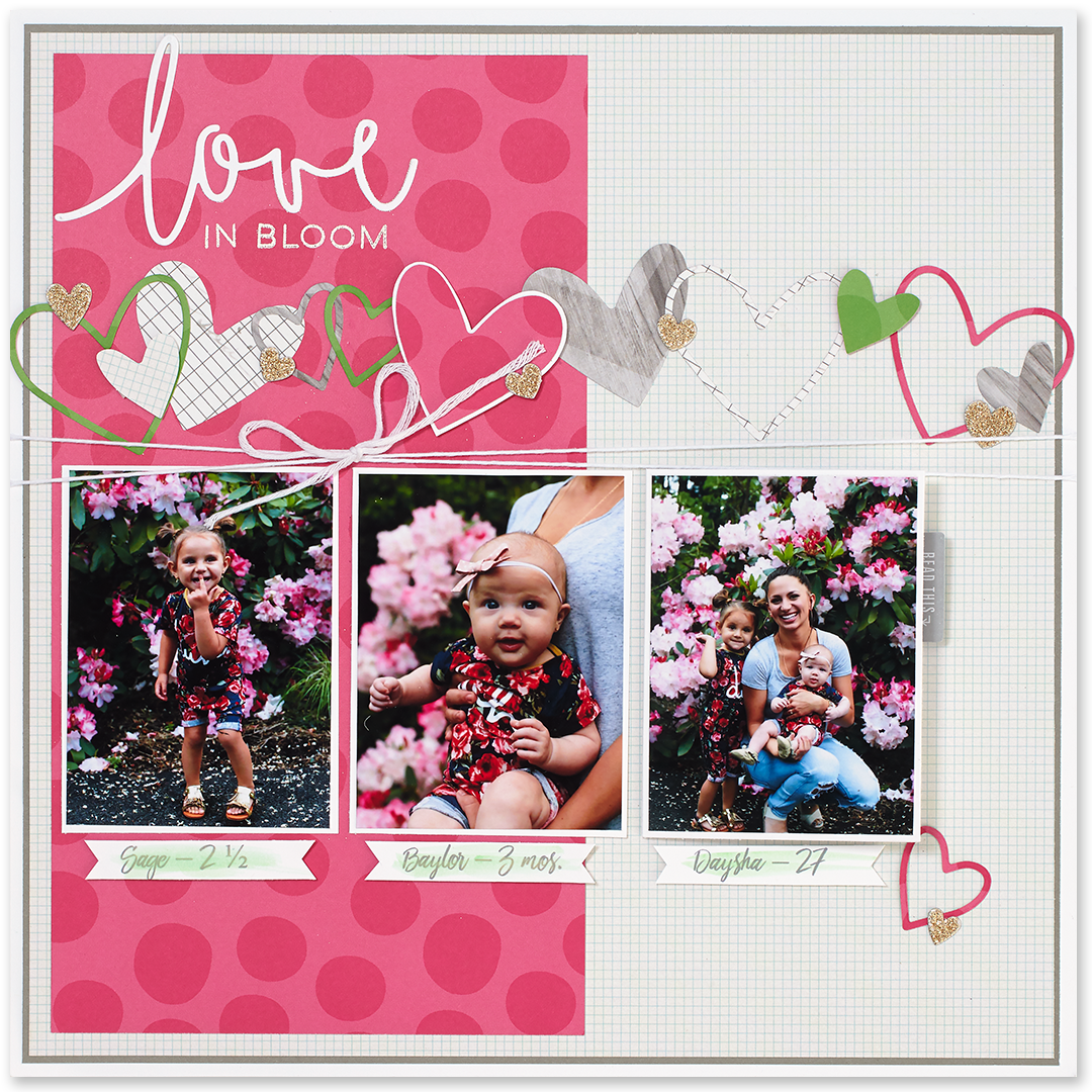 Beautiful scrapbook pages created by Karen Pedersen with our Fundamentals papers #ctmh #closetomyheart #ctmhfundamentals #scrapbookingideas #scrapbooking