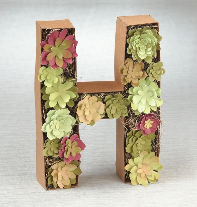 Paper succulents #ctmh #closetomyheart #succulents #diyhomedecor #modernhomedecor #cricut
