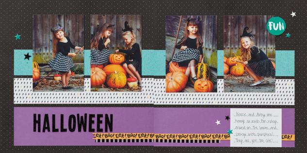 Halloween scrapbooking made easy! #ctmh #closetomyheart #halloweenscrapbooking #halloweencrafts #scrapbooking #ctmhJeepersCreepers #workshopsyourway