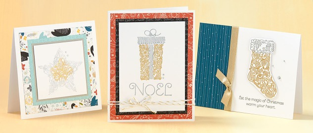 A fun embossing powder trick to try! #ctmh #closetomyheart #ctmhembossing #embossingpowder #cardmaking #stamping #Christmas #howto