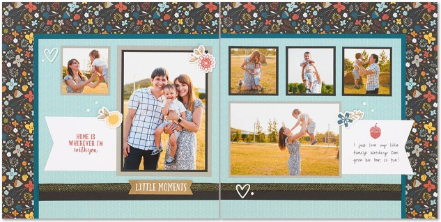 A free scrapbook pattern with cutting guides and photos! #ctmh #closetomyheart #scrapbookingpatterns #scrapbookinginspiration #scrapbooking #paper