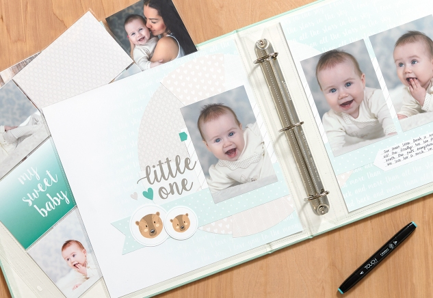 Preserving your baby's first moments has never been easier, thanks to our Little One scrapbooking kit! All you need is adhesive and 15 minutes! #ctmh #closetomyheart #babybook #babyscrapbook #babyphotos #memories #babysfirsts #scrapbooking #beginner #kit