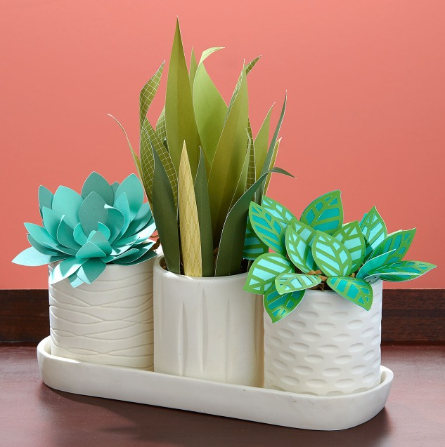 Paper plant ideas #ctmh #closetomyheart #paper #diy #decor #home #succulent