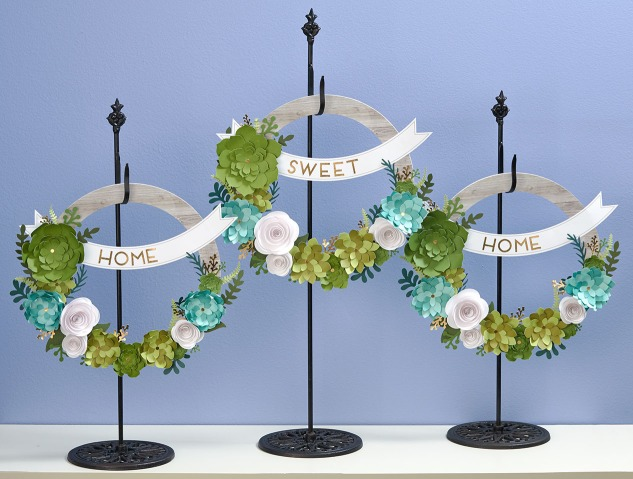 3 Unique Ways to Decorate Your Home with Paper Wreaths #succulentwreath #diywreath #paperwreath #crafting #diyhomedecor #homedecor #budget #ctmh #closetomyheart