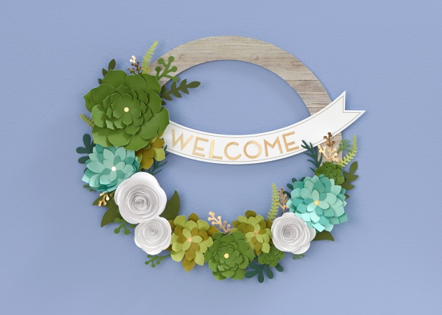 "To the person who thinks she's not ""crafty""...#ctmh #closetomyheart #crafting #paper #diy #crafts #beginner #wreath #kit #paper #succulents #home #decor"