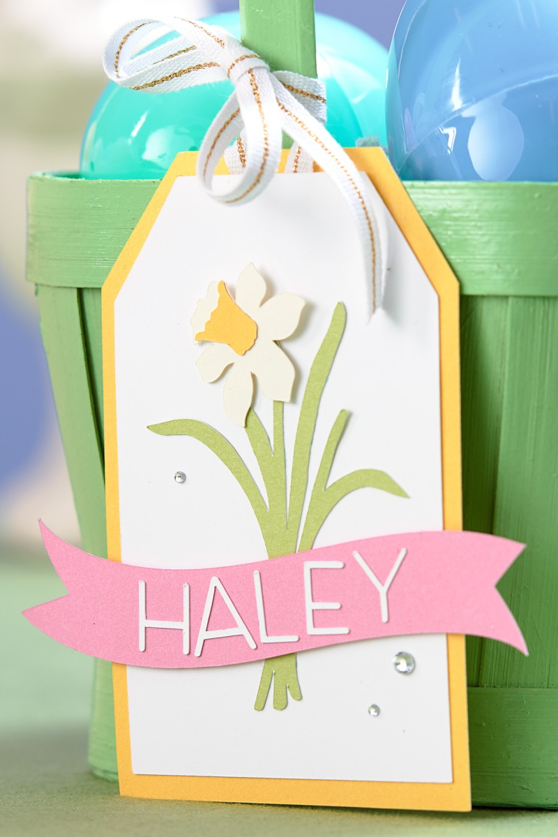 Quick Easter basket tags #ctmh #closetomyheart #easter #crafting #diy #tags #cricut #decor