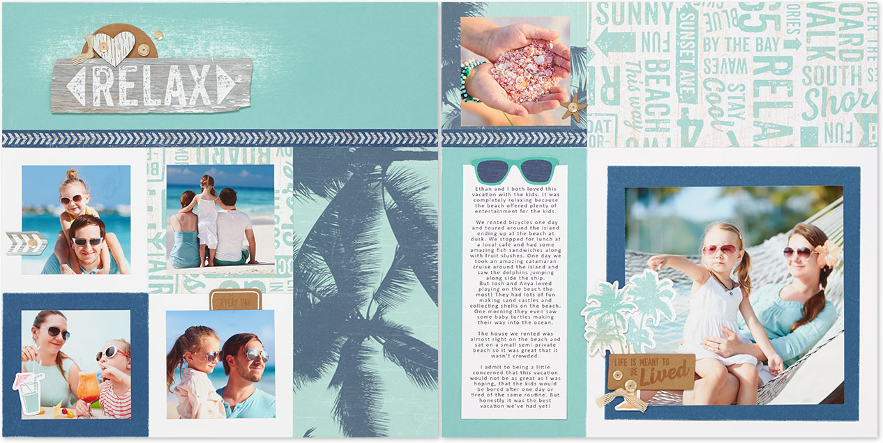Vacation Scrapbook Album Inspiration Make It From Your Heart