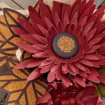 Cricut Flower #cricut #flower #ctmh #closetomyheart #diy #button #wreath #fall #autumn