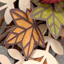 Cricut Leaf #cricut #leaf #wreath #flowermarket #youarehere #fall #autumn #ctmh #closetomyheart