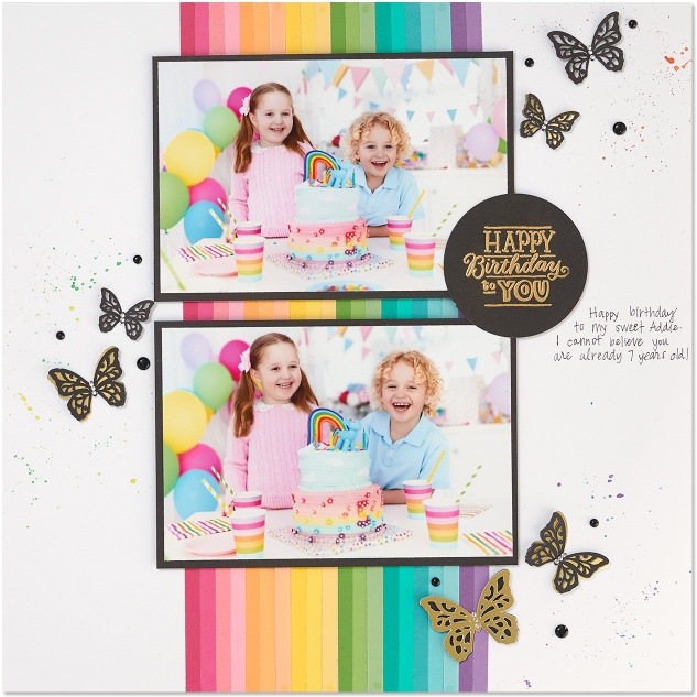 color chromatic cardstock #ctmh #closetomyheart #cardstock #twotoned #rainbow #scrapbooking #birthday