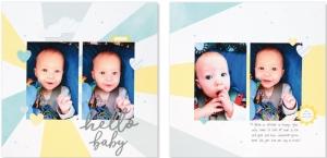 Cut Above® The Story Begins #ctmh #closetomyheart #cutabove #scrapbooking #babyboy #hellobaby #layoutkit #scrapbookingkit #babyalbum #milestones