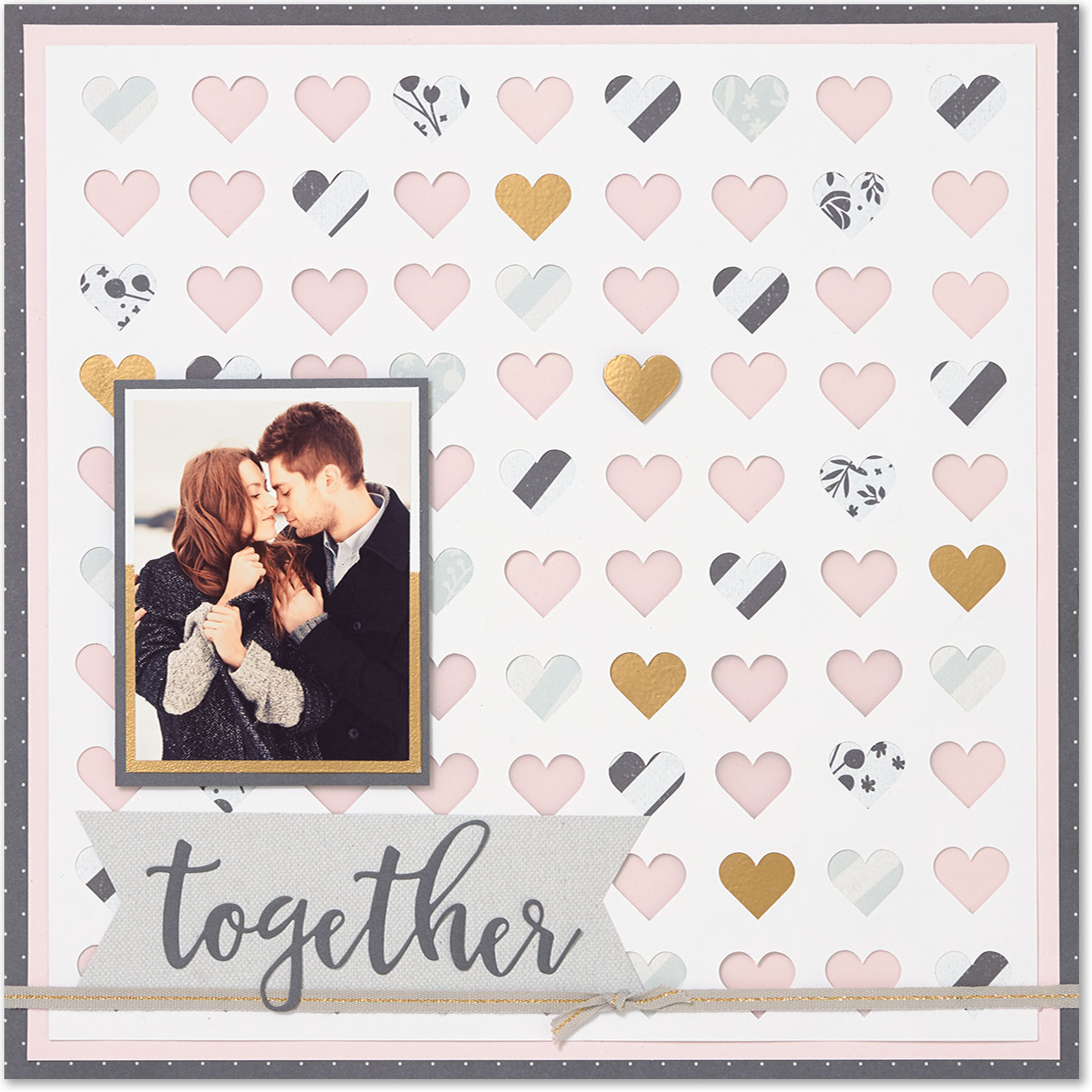 Use your Cricut® machine to create unique backgrounds for you scrapbook pages! #ctmh #closetomyheart #cricut #tutorial #howto #easy #scrapbooking #ideas