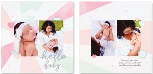 Cut Above® The Story Begins #ctmh #closetomyheart #cutabove #scrapbooking #babygirl #hellobaby #layoutkit #scrapbookingkit #babyalbum #milestones