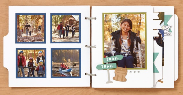 Mini summertime adventure album #ctmh #closetomyheart #cricut #cricutartbooking #cricutyouarehere #ctmhjack #camping #cabin #vacation