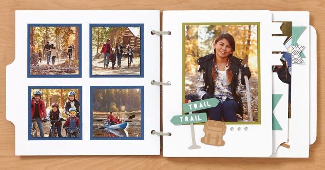 Mini summertime adventure album #ctmh #closetomyheart #cricut #cricutartbooking #cricutyouarehere #ctmhjack #camping #cabin #vacation