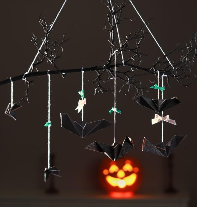 Cats & Bats Origami #ctmh #origami #trend #mobile #bats #cats&bats #papercrafting #walldecor