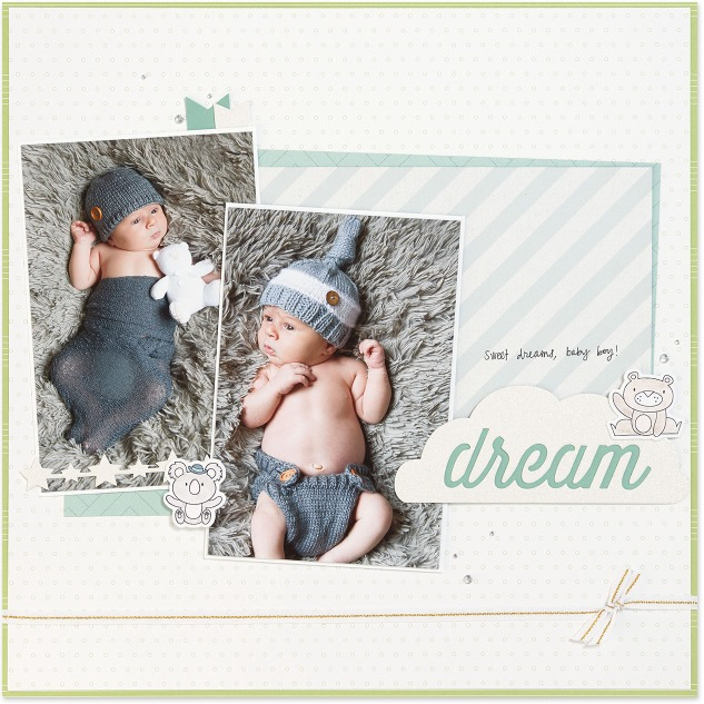 Punny Pals in Scrapbooking #ctmh #closetomyheart #scrapbooking #punnypals #thincuts #watercolor #watercolour #bear #sweet #dream #baby #boy #operationsmile